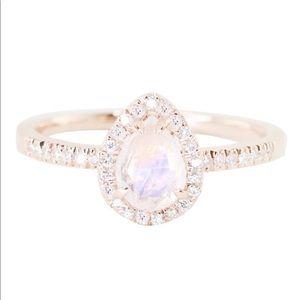 LUNA SKYE rose gold moonstone ring